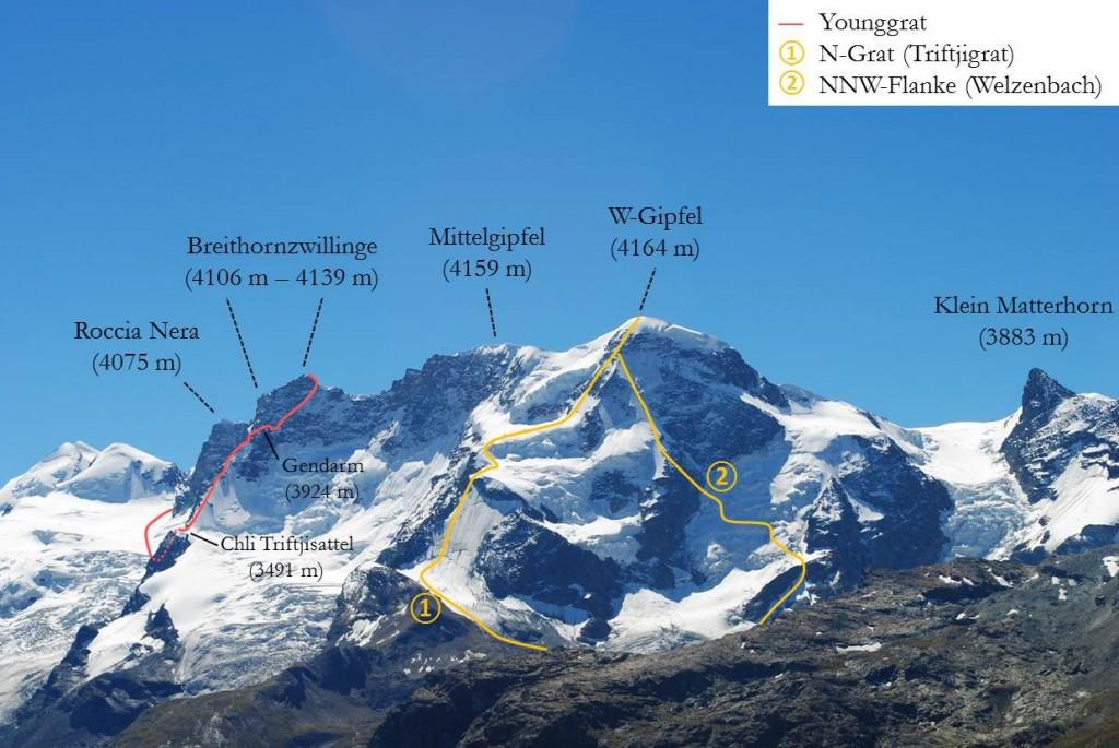 Breithorn Anstiege