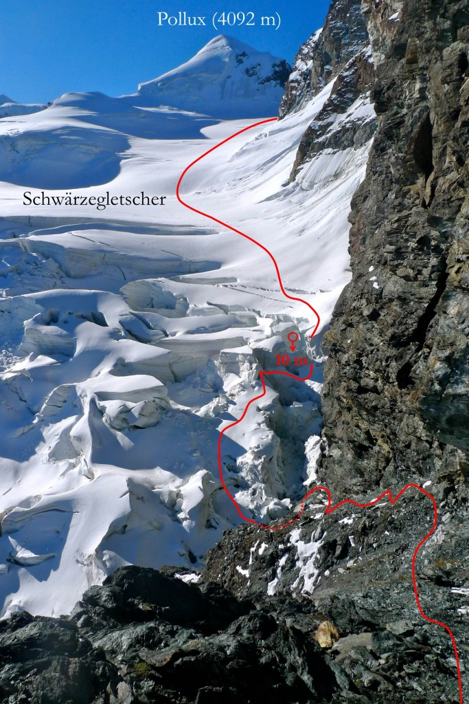 Breithorn Gletscherbruch
