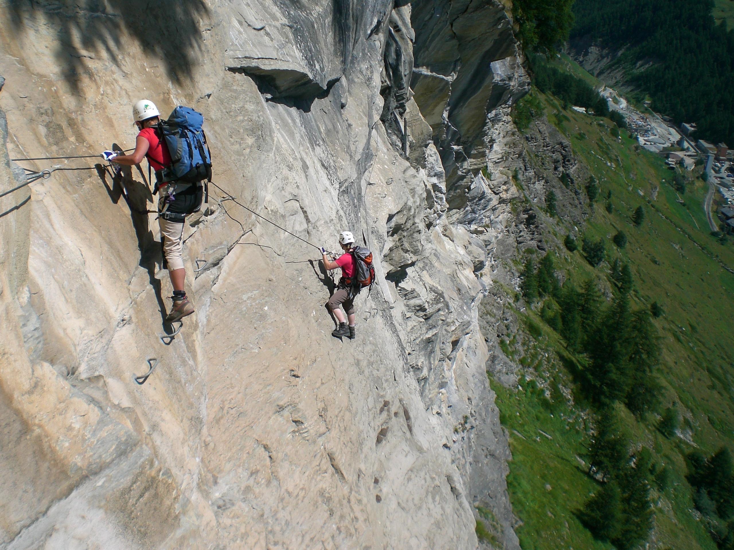 Klettersteigset Mammut : Klettersteig leiter: klettersteige und steige rund um bad hindelang