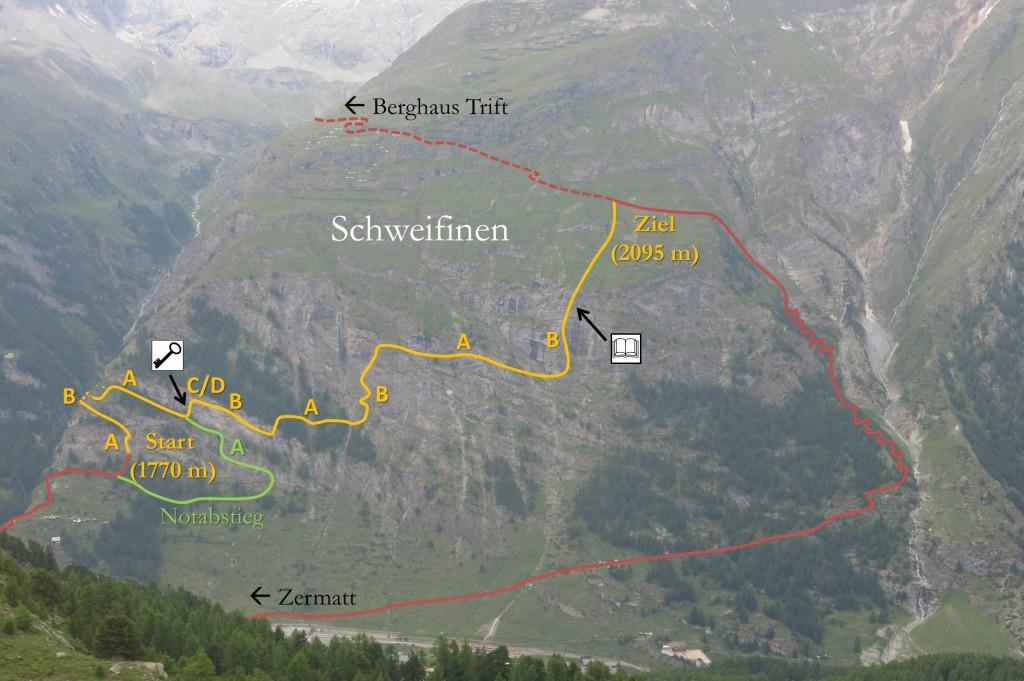 Klettersteig Schweifine