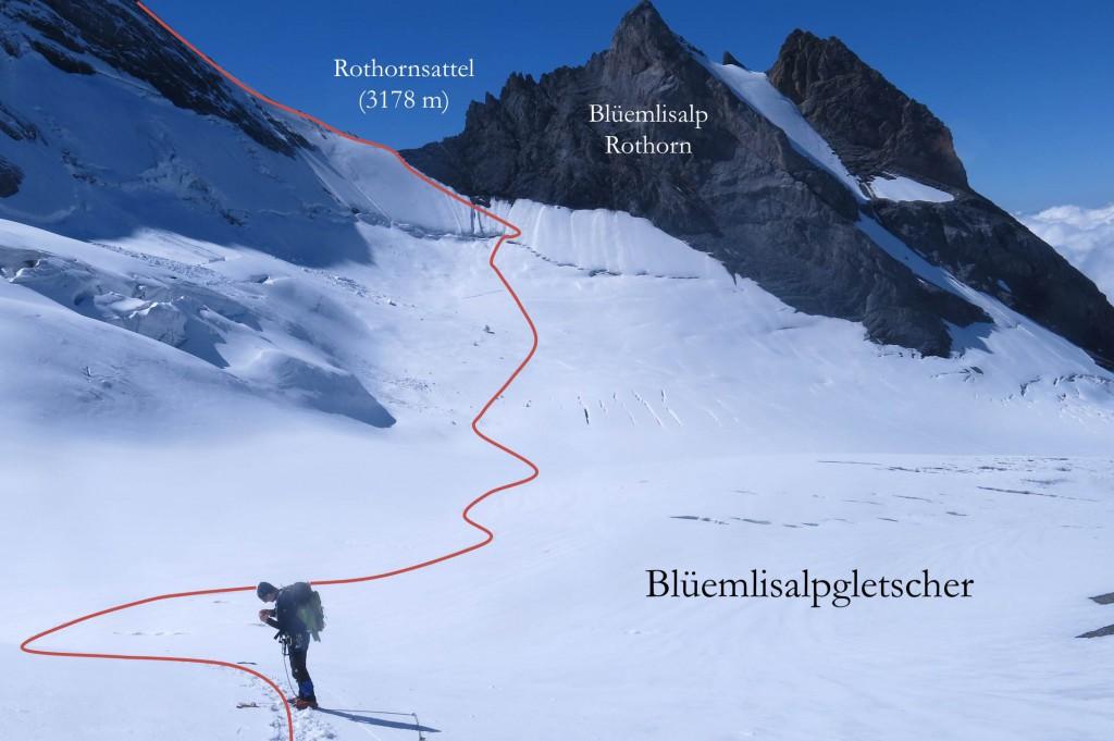 Abstieg Blüemlisalphorn