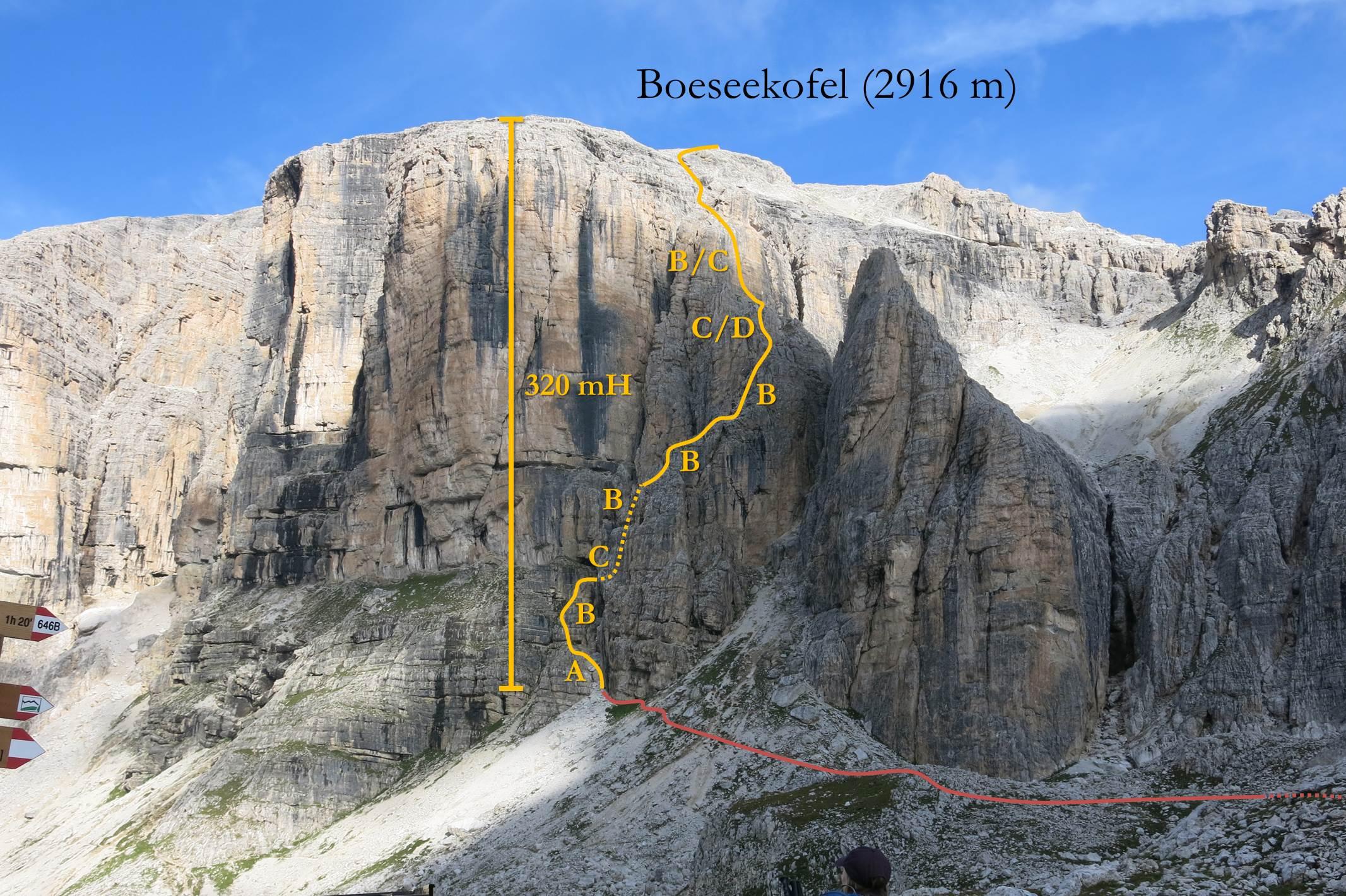 Klettersteig Piz Boe : Boeseekofel klettersteig faszination hochtouren