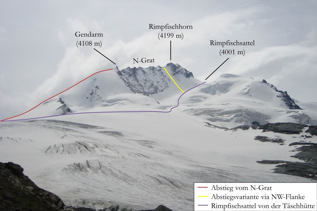 Rimpfischhorn Gipfel