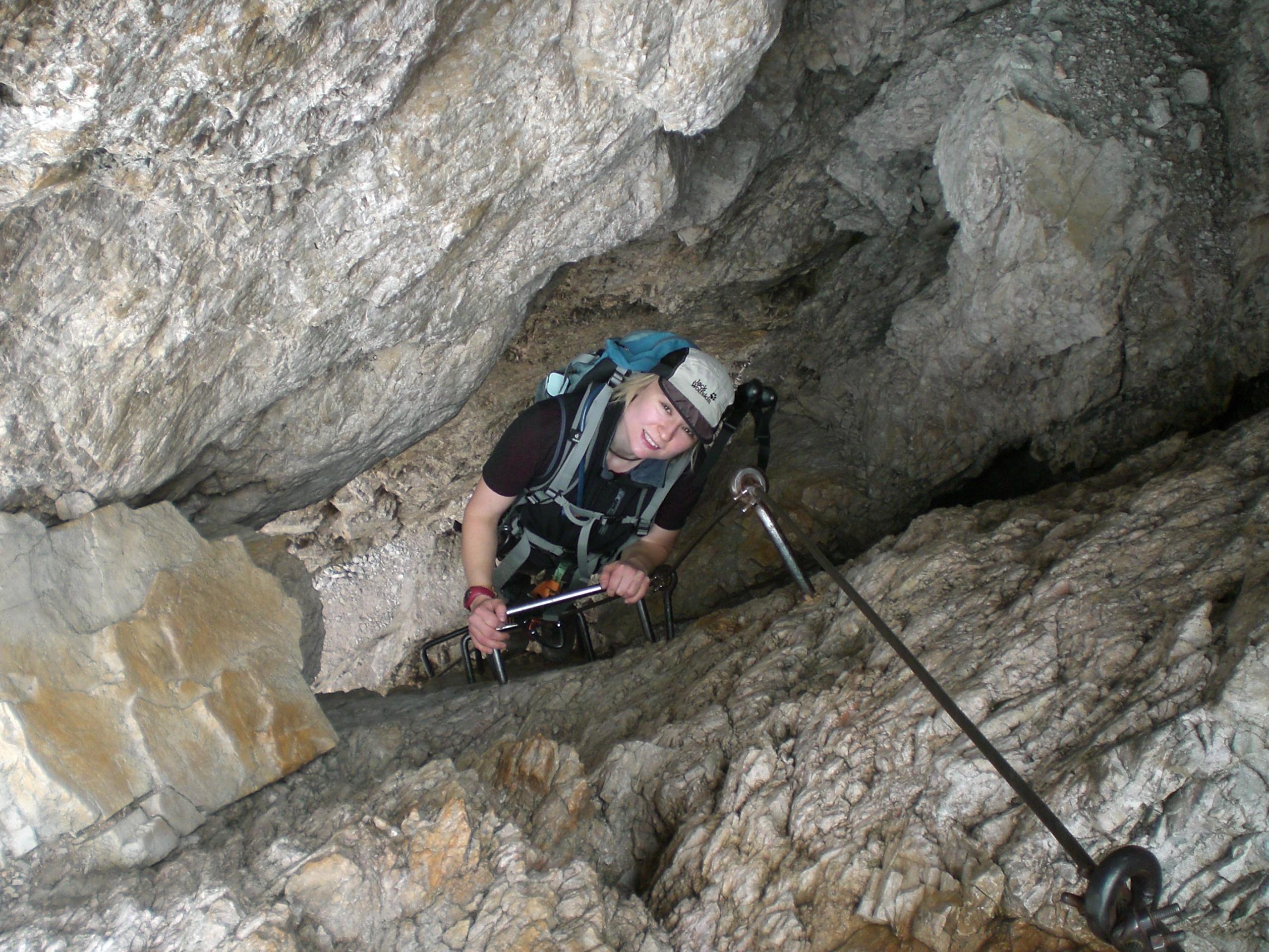 Vallon Klettersteig : Punta fiames m strobel klettersteig cristallo gruppe