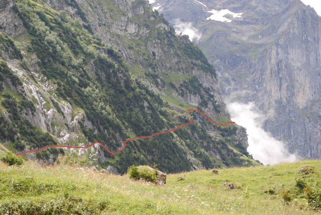 Weg Glecksteinhütte