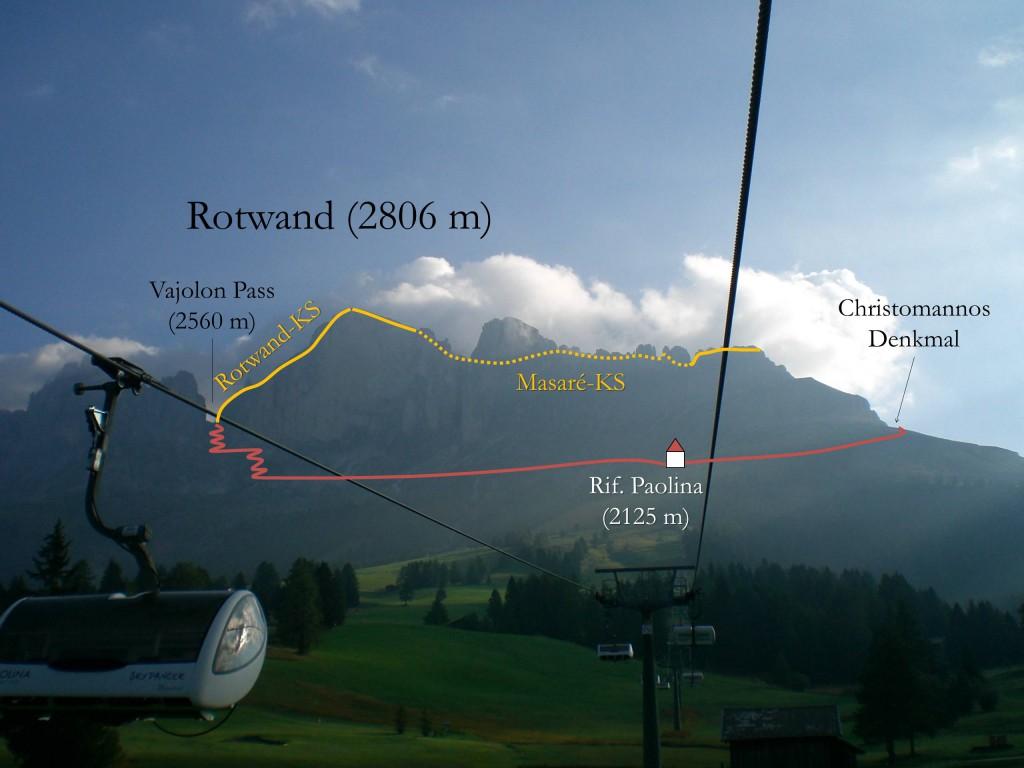 Masaré-Rotwand Klettersteig